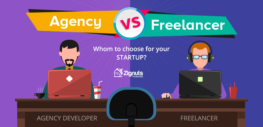 hire app development agency vs freelancer